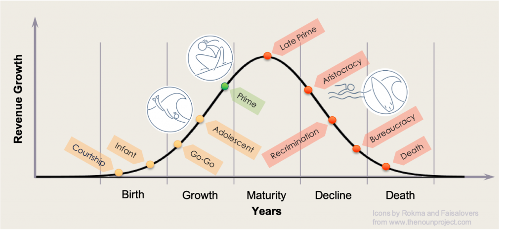 Organisational Life Cycle. Get to Prime Stage and stay there.